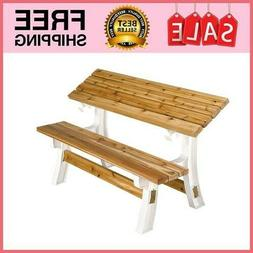 Flip Top Convertible Bench Table Picnic Garden Outdoor Furni