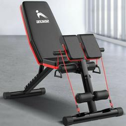 FLYBIRD Adjustable Weight Bench Incline Decline Foldable Ful