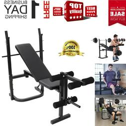 FlyBird Adjustable Weight Bench Lifting Incline Foldable Ful