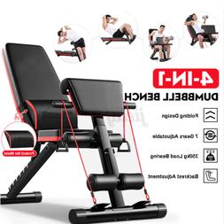 Foldable Adjustable Weight Bench Incline Decline Full Body W