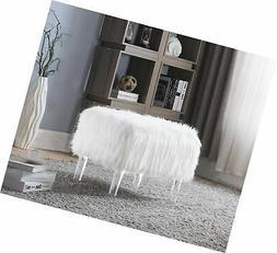 Iconic Home FON2645-AN Fiorino Modern Contemporary Faux Fur