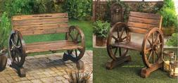 Front Porch Furniture Pool Deck Decor Bench Chair Wood Outdo