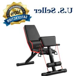 Full Body Training Sit Up Stretch Adjustable Fitness Bench F