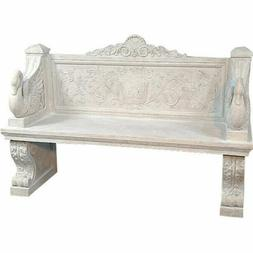 Giant Neoclassical Outdoor Vicenza Swan Garden Entry Bench N