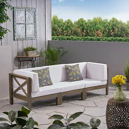 Great Deal Furniture Keith Outdoor Sectional Sofa Set  3-Sea