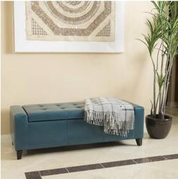 Guernsey Faux Leather Storage Ottoman Bench Christopher Knig