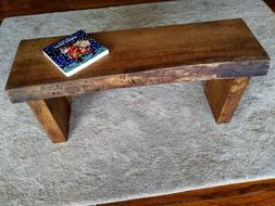 Handcrafted live edge wooden bench, one of a kind rustic ind