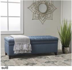 Christopher Knight Home Hastings Tufted Fabric Storage Ottom