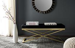 Safavieh Home Collection Acra Black & Gold Bench