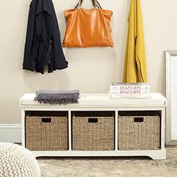 Safavieh Home Collection Lonan White and White Wicker Storag
