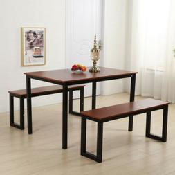 Hot Style Steel Home Kitchen Dining Set Furniture Table Benc