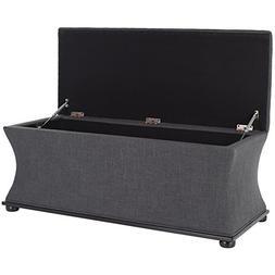 Safavieh Hudson Collection Aroura Storage Bench, Grey