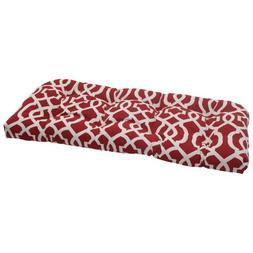 indoor geo wicker loveseat cushion