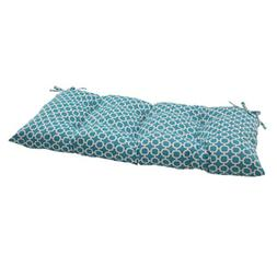 Pillow Perfect Indoor/Outdoor Hockley Teal Swing/Bench Cushi