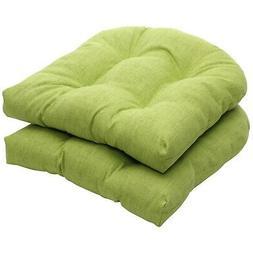 Pillow Perfect Indoor/Outdoor Green Textured Solid Wicker Se