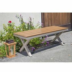 jasmine outdoor aluminum and poly wood bench