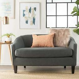 Justine Fabric Loveseat by Christopher Knight Home Grey