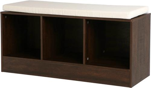 3 cube entryway shoe storage bench