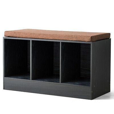 3 cube storage box organizer shoe bench