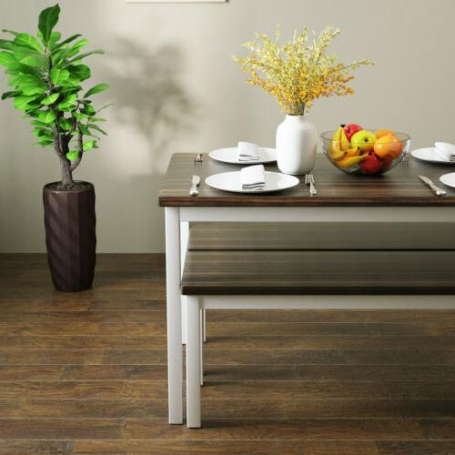 3 PCS Table Set with 2 Pine Room
