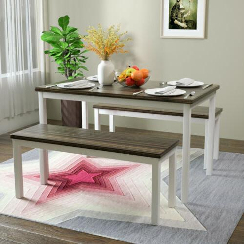 3 pcs dining table set with 2