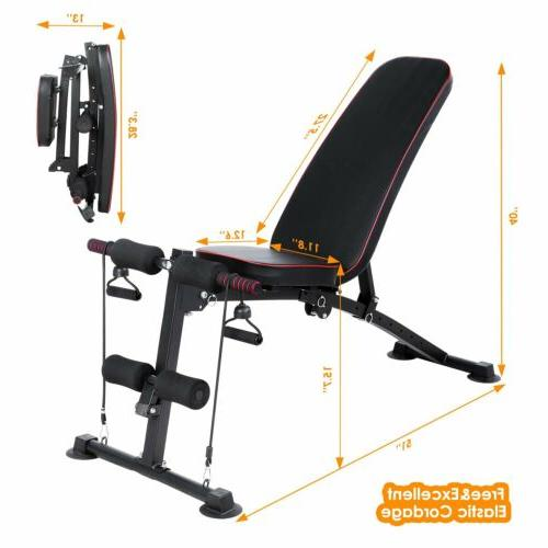 330LBS Adjustable Incline Decline Folding Training Gym