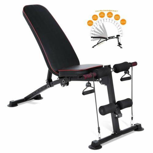 330lbs adjustable weight bench incline decline body
