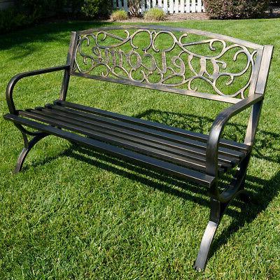 "50"" Welcome Garden Park Seat"