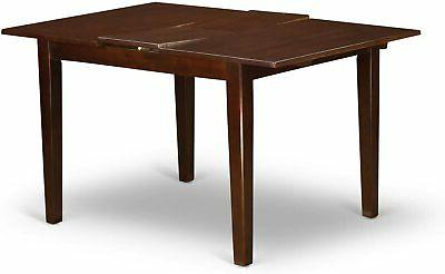 5pc dinette table leaf 2 chairs benches mahogany