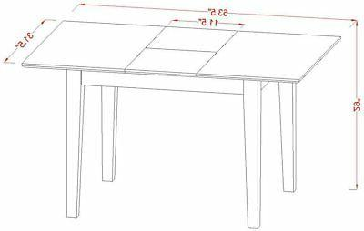5pc rectangular dinette table 2 + 2 benches mahogany