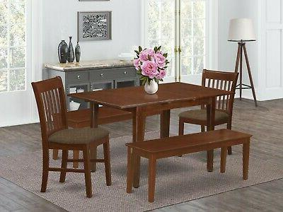 5pc rectangular dinette kitchen table with leaf