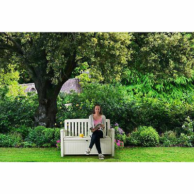 Keter Patio Storage Bench for Outdoor Patio Garden,