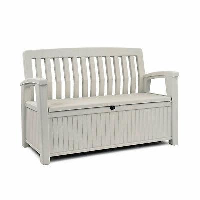 60 gallon patio storage bench tool box