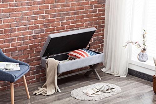 Boraam 85036 Upholstered Storage Grey