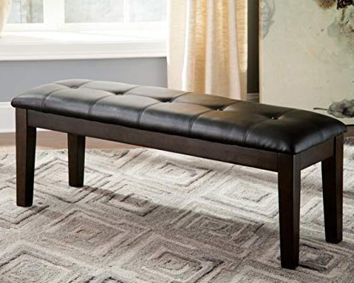 Ashley Furniture - Upholstered Room Bench Tufted - Brown