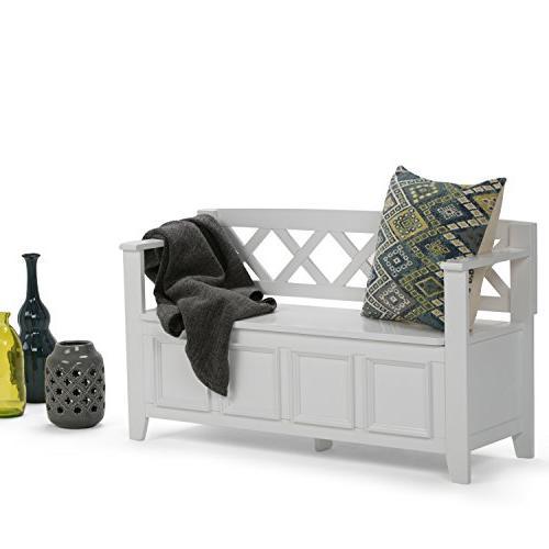 Simpli Home - Entryway Storage Bench - White