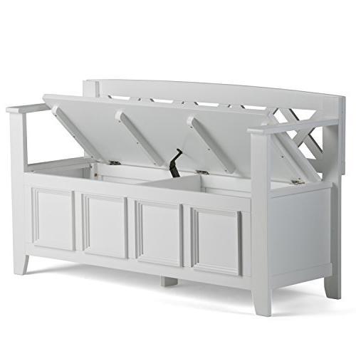 Simpli Home - Entryway Storage Bench White