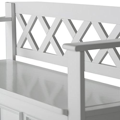 Simpli Home - Amherst Entryway Storage White