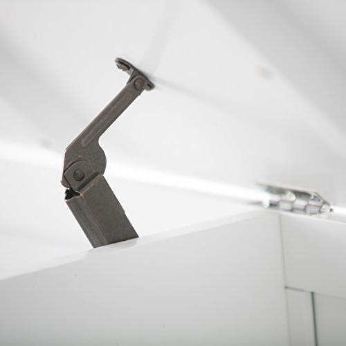 Simpli Home Amherst Entryway Storage - White