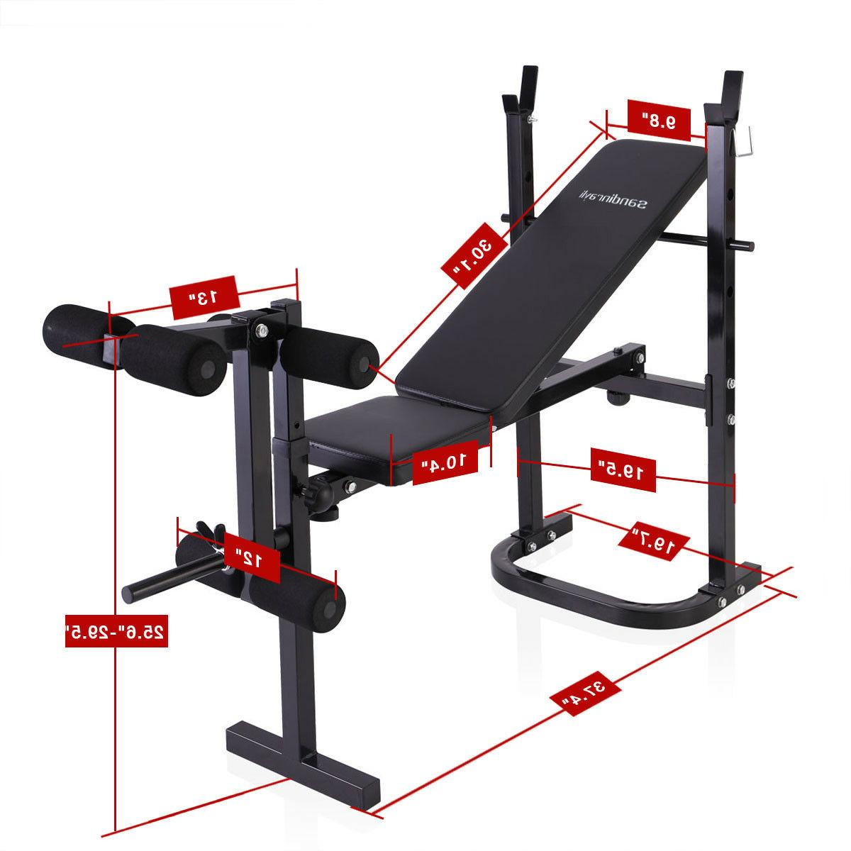 Weight Lifting w/Rack Workout Adjustable