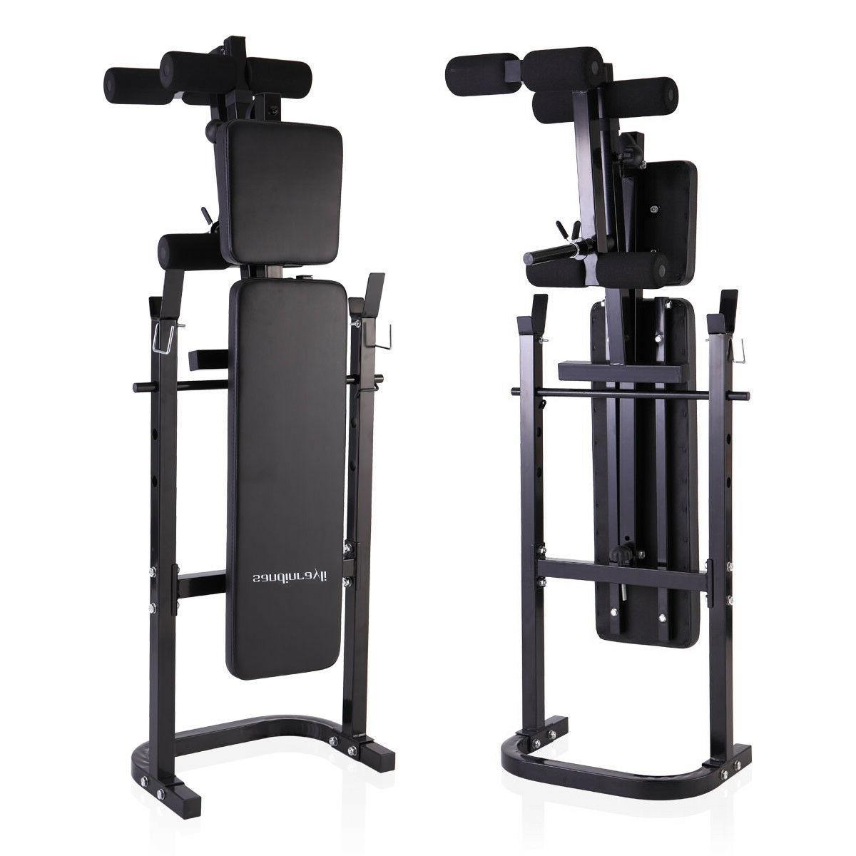 Weight Lifting w/Rack Adjustable Strength
