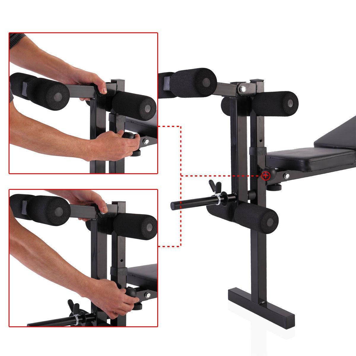 Weight Lifting Folding w/Rack Adjustable Strength