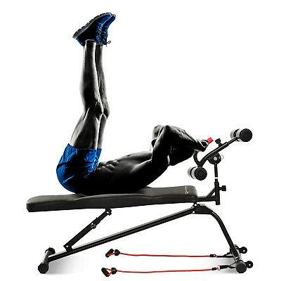 Multifunctional Sit Up Bench with Leg Lifts