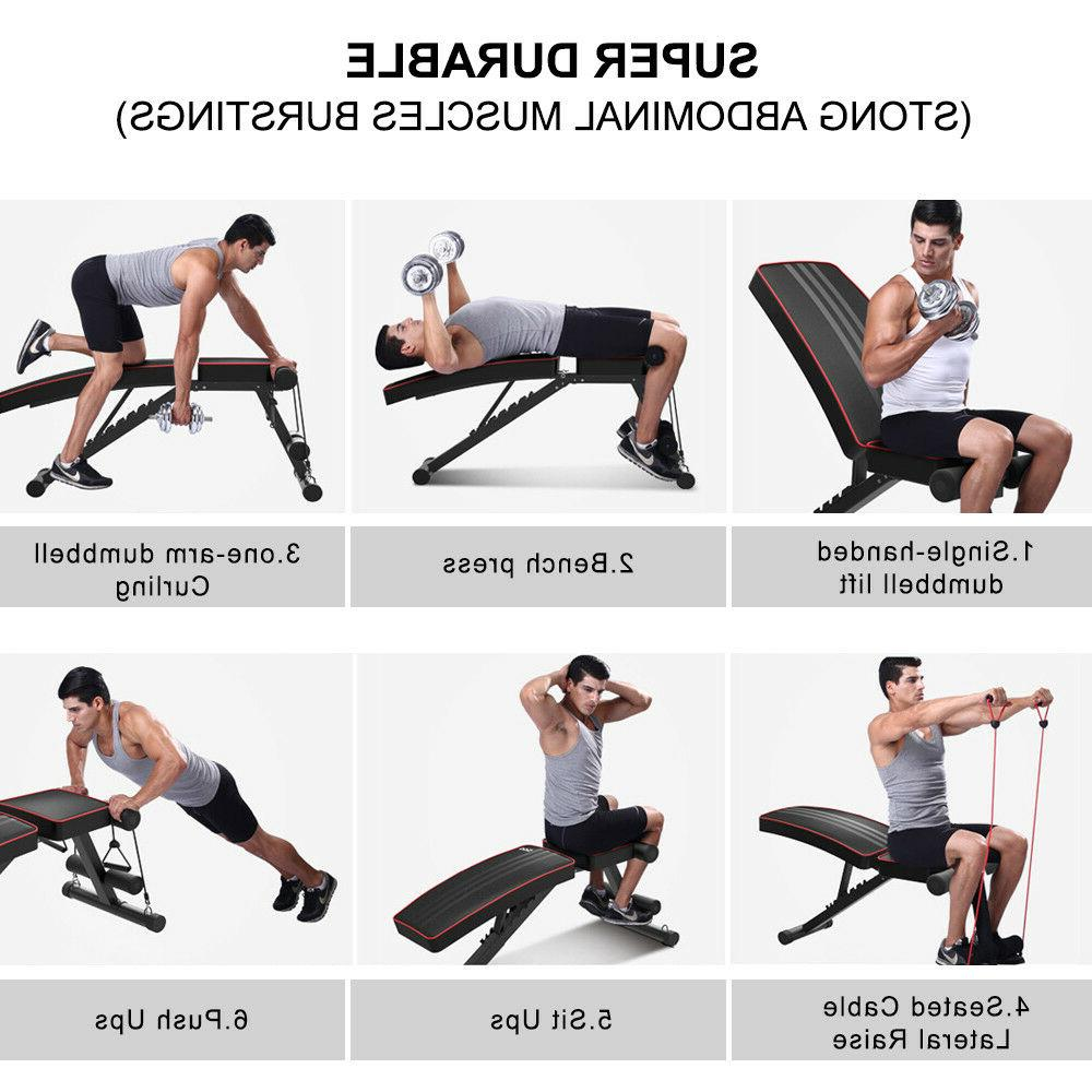 Adjustable Bench Flat Incline Fitness Exercise