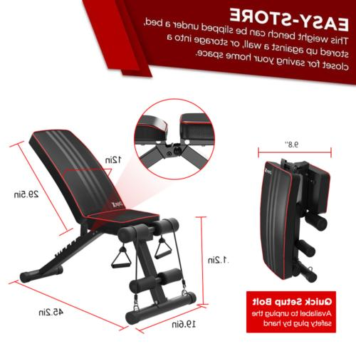 Adjustable Bench Incline Decline Fitness Exercise