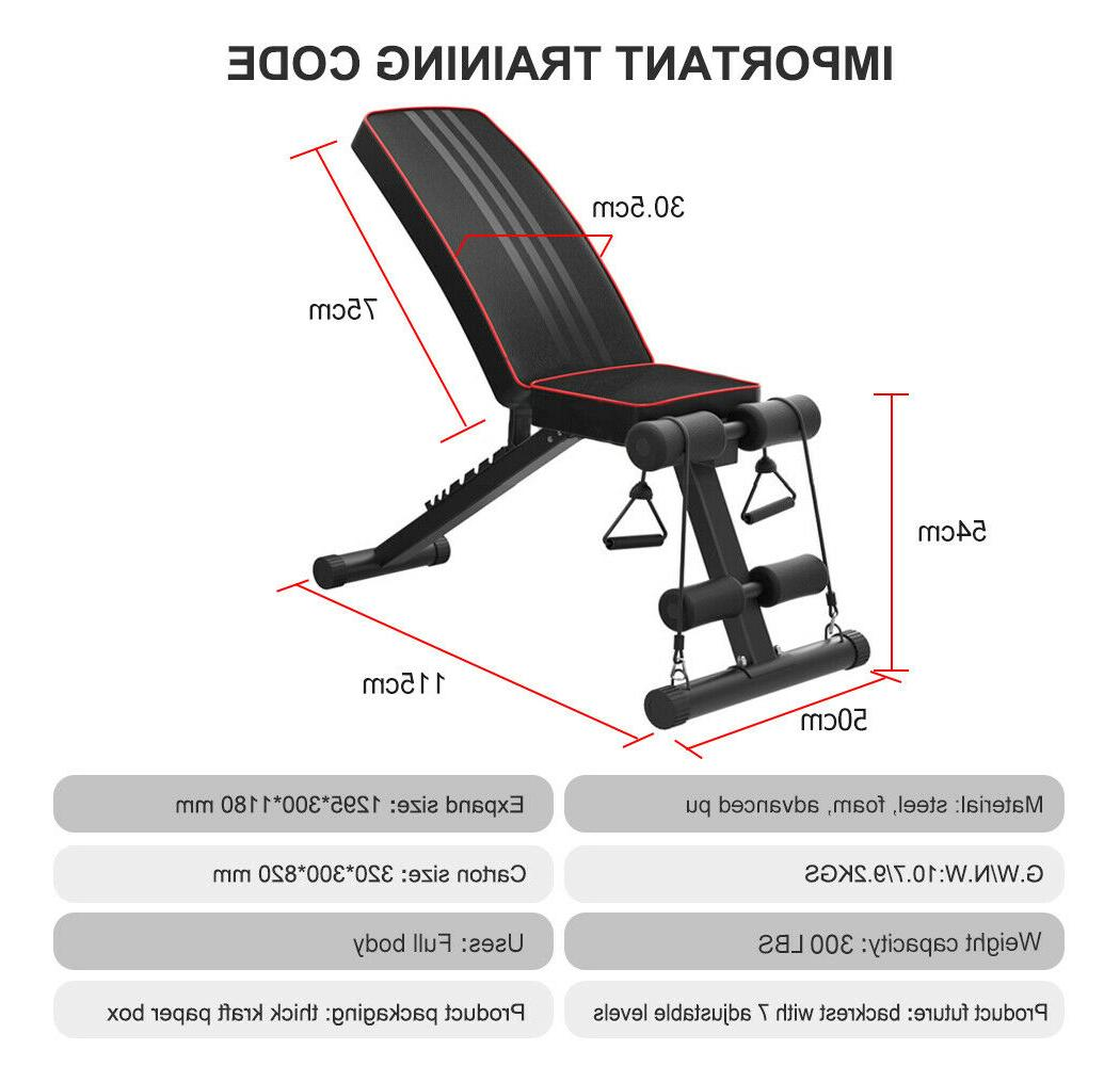 Adjustable Flat Incline Decline Weight Fitness