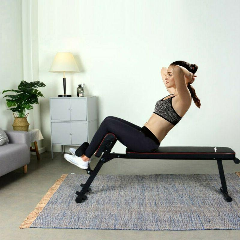 Bench Crunch Fitness Home Gym Exercise