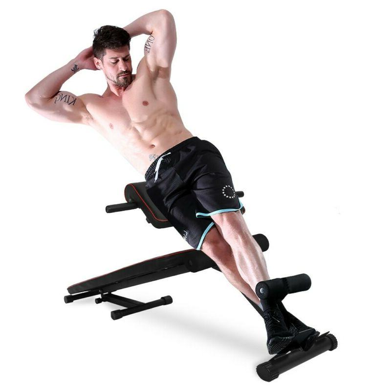 Adjustable Decline Sit Bench Crunch Board Fitness Home Gym Exercise
