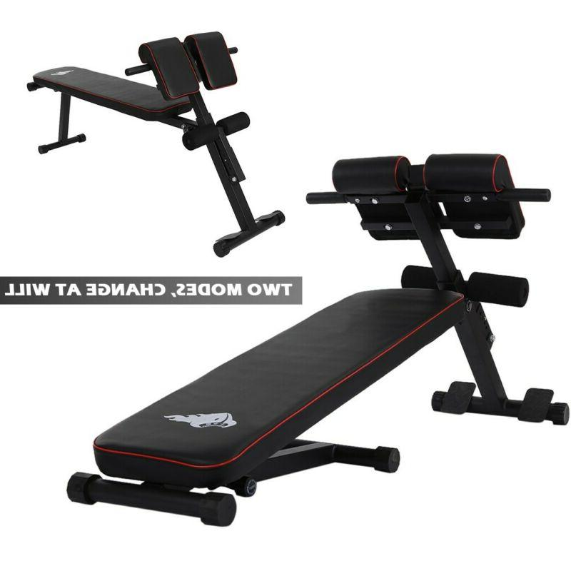 adjustable decline sit up bench crunch board