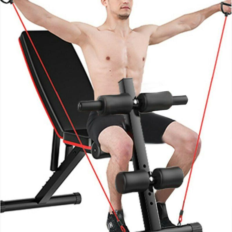 Adjustable Weight Bench Incline Decline Foldable Full Body-W